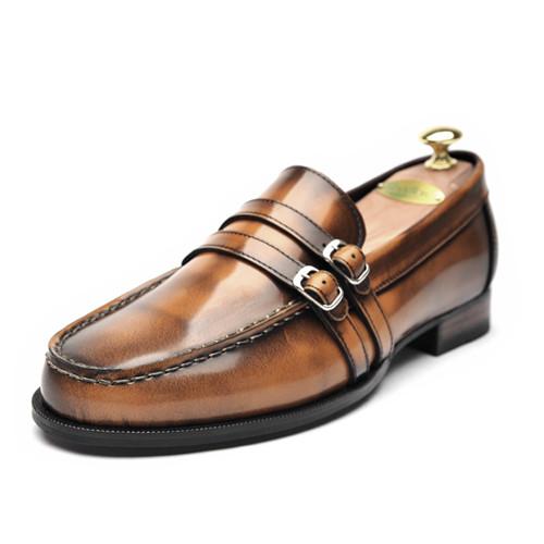 6.5cm背高ペニーローファー手作り靴(EL0069ABR)