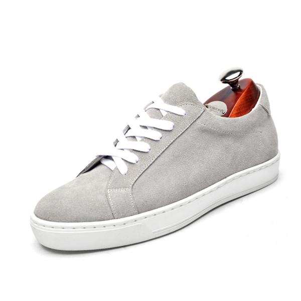5cmレザースニーカー手作り靴(アライブ_CH0027GR)