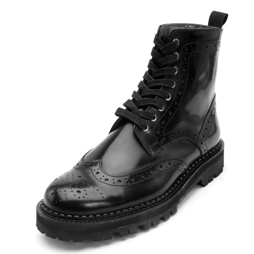 9.5cmウィンチプブログコマンドーウォーカー手作り靴(EL0133BK)