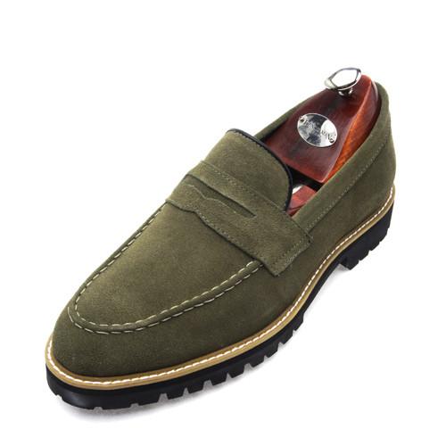 7cmクラシックスエードペニーローファー手作り靴(EL0145KK)