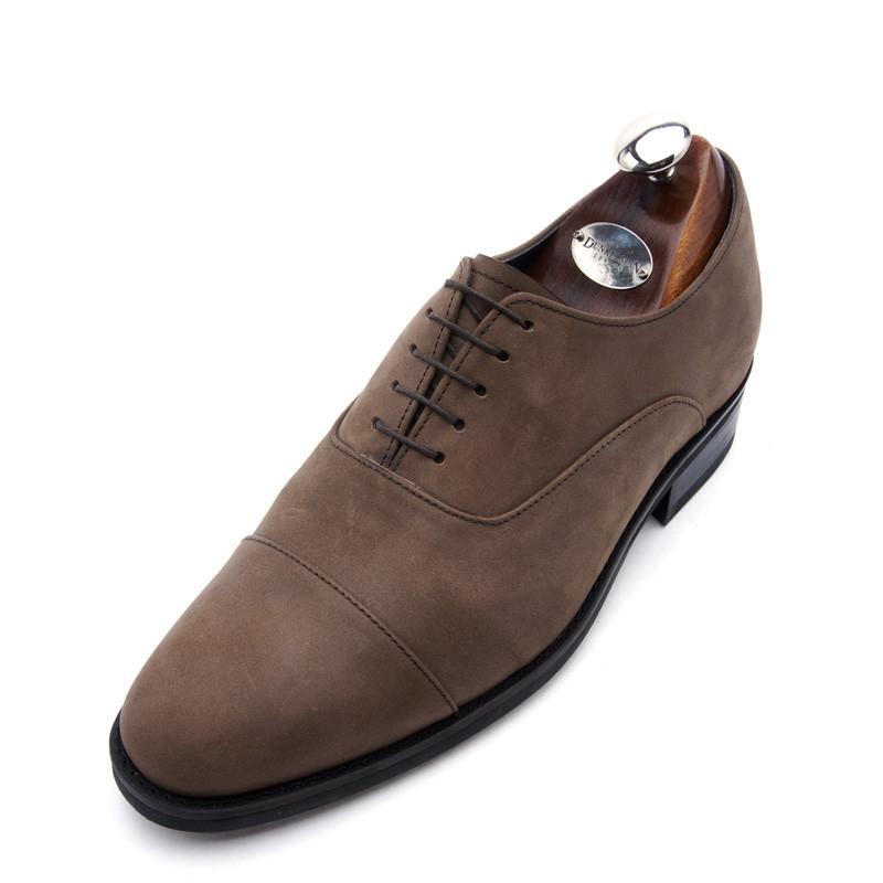 7.5cmストレートチッププレーントゥバルモラル手作り靴(EL0147BR)