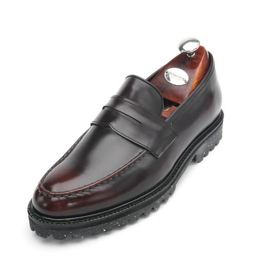 7cmユチプクラックブラシペニーローファー手作り靴(EL0152AWN)