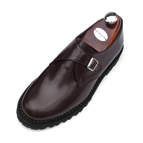 7cmコマンドーモンクストラップ手作り靴(EL0159WN)