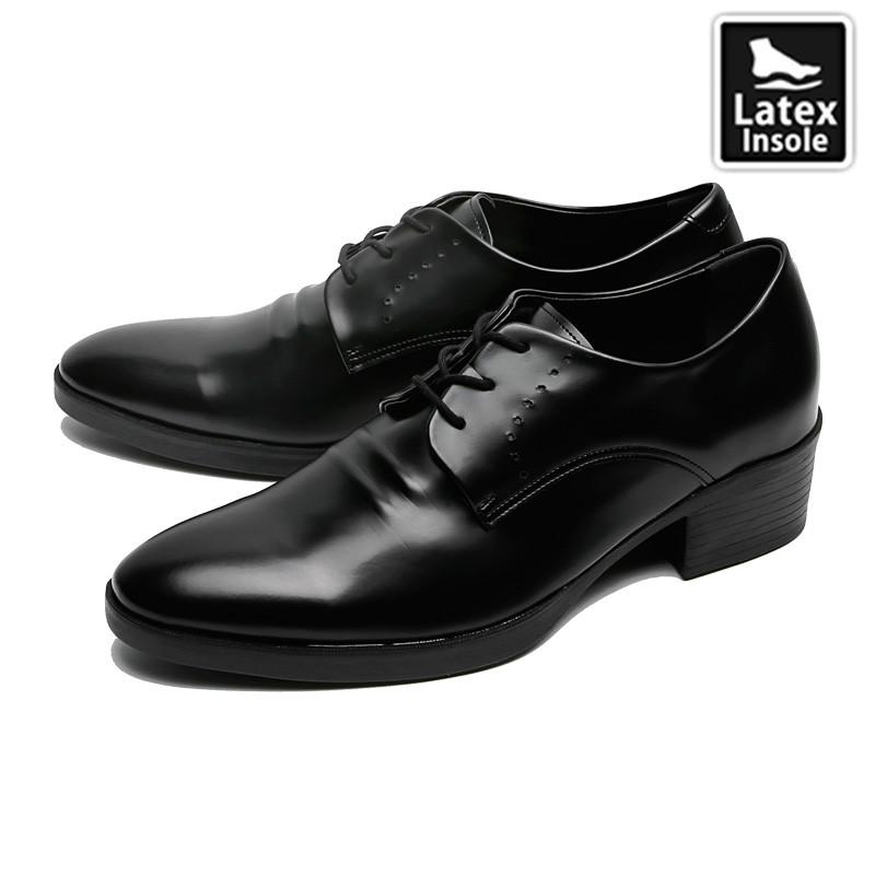7cm背高プレーントゥダービー靴(CL0021)
