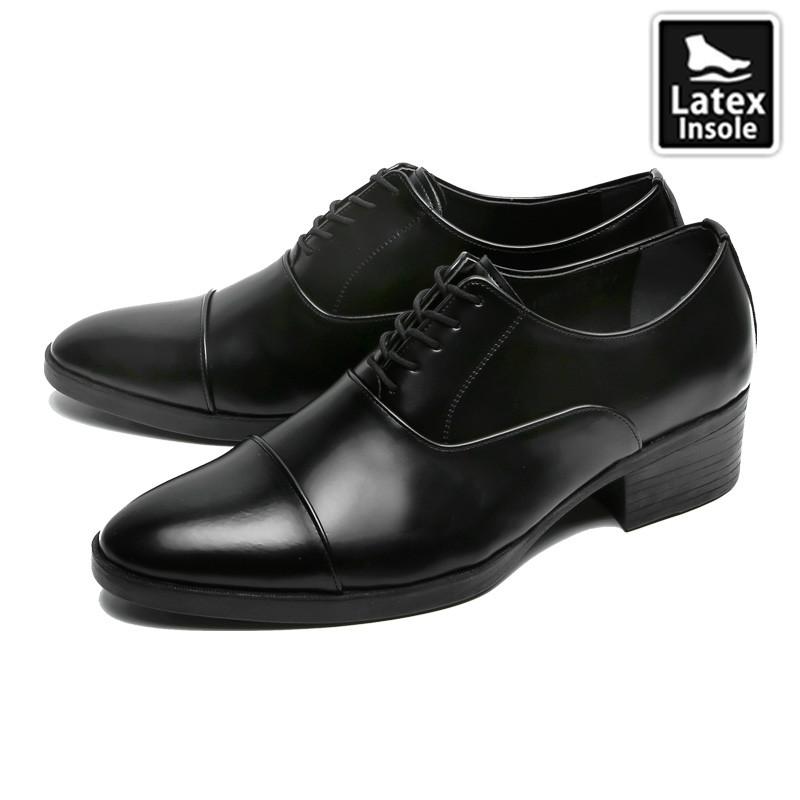 7cm背高ストレートチップオックスフォード靴(CL0022)