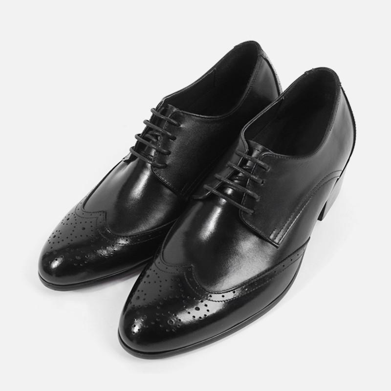 7cm背高ブログウィンチプオックスフォードフォーマル靴(ZE0145)