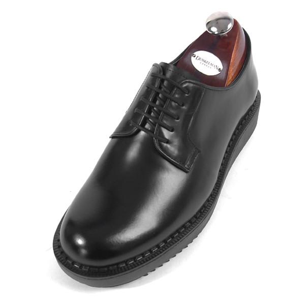 7.5cmクリッパーダービーシューズ手作り靴(EL0167BK)