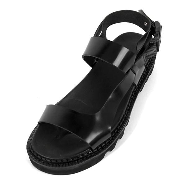 5.5cmコマンドーバンディングサンダル手作り靴(EL0171BK)