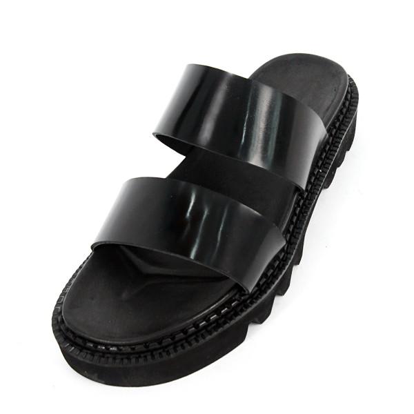 5.5cmコマンドーバンディングスリッパ手作り靴(EL0172BK)