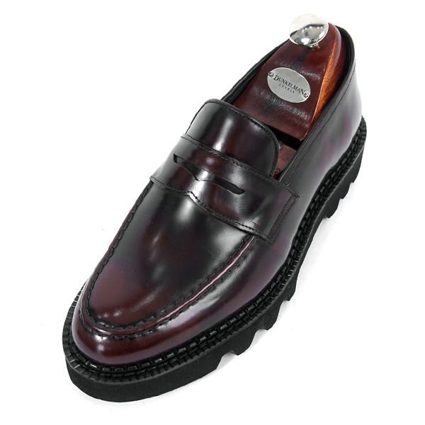 8cmコマンドーペニーローファー手作り靴(EL0170AWN_大きくマックス)