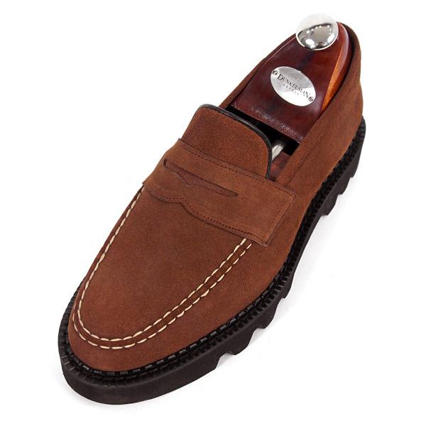 8cmコマンドーペニーローファー手作り靴(EL0170SBR_大きくマックス)