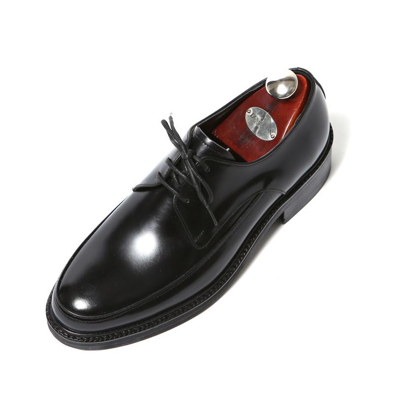 7.5cmユチプオックスフォードダービー手作り靴(EL0174BK)