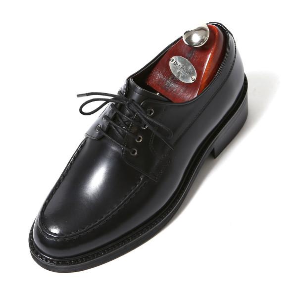 7.5cmステッチユチプダービーオックスフォード手作り靴(EL0175BK)