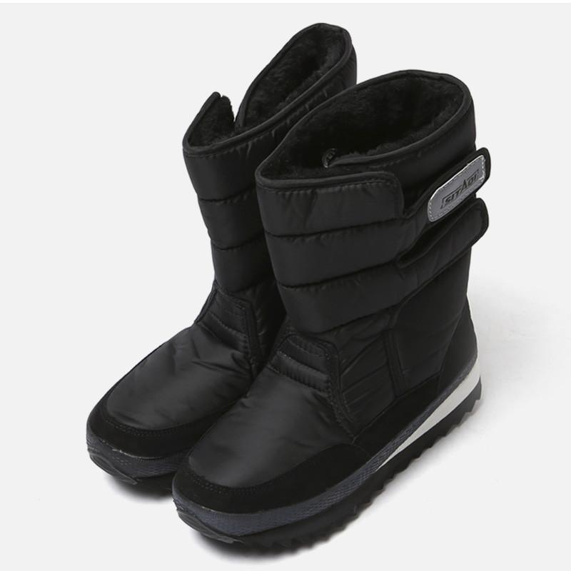 5cmブラックスノーファー防寒ブーツ(ZE0183)