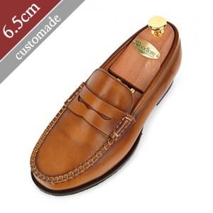 6.5cm背高ペニーローファー手作り靴(EL0035BR)