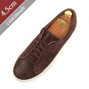 4.5cm背高スニーカー手作り靴(EL0110BR)