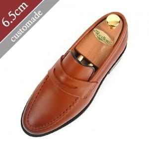 6.5cm背高ペニーローファー手作り靴(EL0045BR)