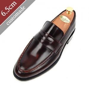 6.5cm背高ペニーローファー手作り靴(EL0046WN)