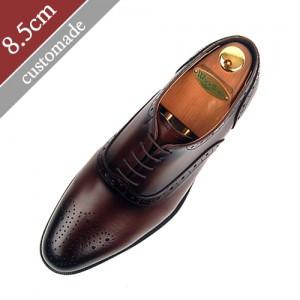 8.5cm背高オックスフォードバルモラル手作り靴(EL0006BR)