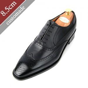 8.5cm背高バルモラルウィンチプオックスフォード手作り靴(EL0010BK)