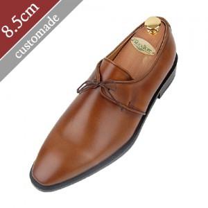 8.5cm背高オックスフォードプレーントゥダービー手作り靴(EL0019BR)