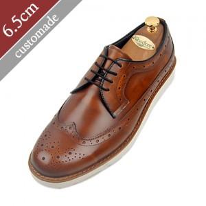 6.5cm背高カジュアルウィンチプ手作り靴(EL0077BBR)