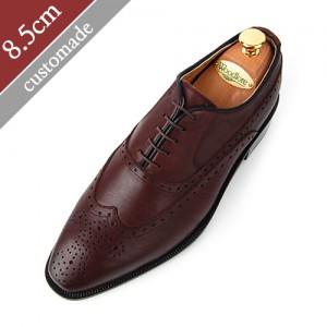8.5cm背高バルモラルウィンチプオックスフォード手作り靴(EL0010DBR)