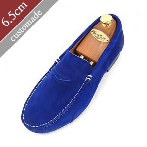 6.5cm背高ペニーローファー手作り靴(EL0047BL)