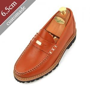 6.5cm背高ペニーローファー手作り靴(EL0048vi)