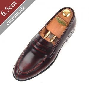 6.5cm背高ペニーローファー手作り靴(EL0054WN)