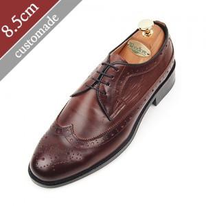 8.5cm背高オックスフォードブログウィンチプ手作り靴(EL0003BR)