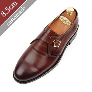 8.5cm背高オックスフォードモンクストラッププレーントゥ手作り靴(EL0004BR)