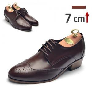 7cm背高ブログウィンチプオックスフォードフォーマル靴(6334br)