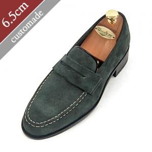 6.5cm背高ペニーローファー手作り靴(EL0045SK)