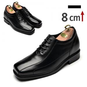 8cmレザーステッチラインフォーマル靴(ZE0002BK)